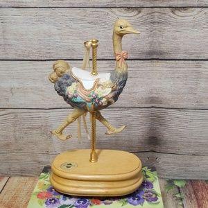 Vintage Breckenridge Ostrich Musical Figurine 1993